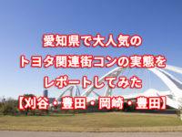 愛知県で大人気のトヨタ関連街コンの実態をレポートしてみた【刈谷・豊田・岡崎・豊田】